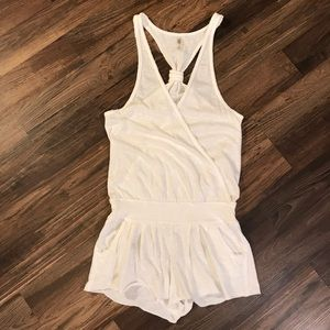 Victoria's Secret White Romper Swim coverup
